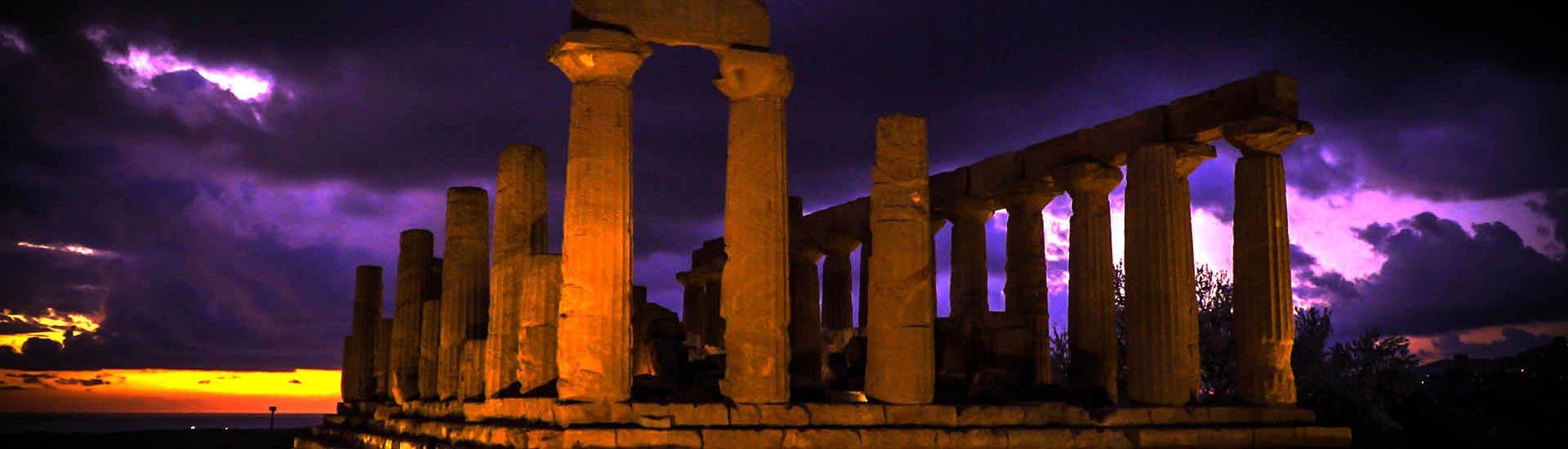 Valley of the Temples by night